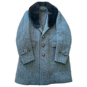 Burberry Prorsum Fall 2011 Blue Wool & Mink Coat